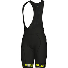 Alé Cycling Graphics PRR Strada Bib Shorts Men black flou yellow